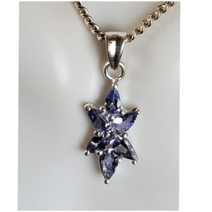 "Jewelry - 2ct Violet Tanzanite Pendant/Necklace 1"" long"